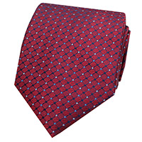 WOVEN DOT 100% SILK   RED