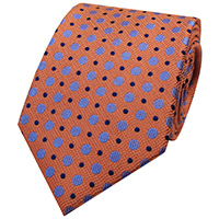 WOVEN DOTS 100% SILK   OR