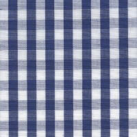 Navy Check Custom Shirt Fabric