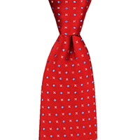 RED WOVEN SATIN NEAT