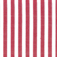 Red & White Stripe Custom Shirt Fabric