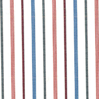 Red Wht W/Pink/Blue Str. Custom Shirt Fabric