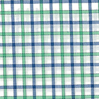 Wht W/Green/Blue Chk Custom Shirt Fabric