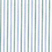 Wht W/Green/Blue Str Custom Shirt Fabric