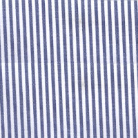 Navy & White Stripe Custom Shirt Fabric