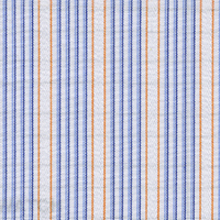 Blue/Orange Stripes Custom Shirt Fabric