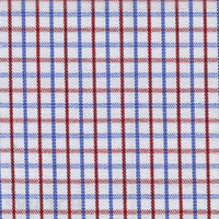 Red/Blue Check Custom Shirt Fabric
