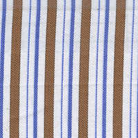 Tan Brown Stripe Custom Shirt Fabric