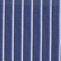 Navy Stripe Custom Shirt Fabric