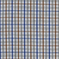 Gray Check Custom Shirt Fabric