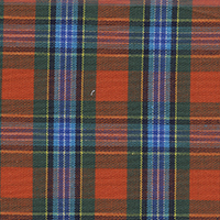 Orange Plaid Custom Shirt Fabric