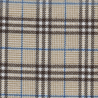 Tan Twill Plaid Custom Shirt Fabric