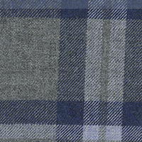 Gray Twill Plaid Custom Shirt Fabric