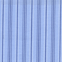 Blue Brdadcloth Strp Custom Shirt Fabric