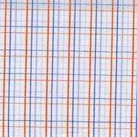 Orange Org Brdcloth Check Custom Shirt Fabric
