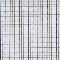 Tan Brdcloth Check Custom Shirt Fabric