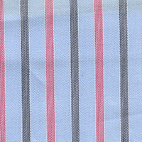 Red Brdcloth Stripe Custom Shirt Fabric