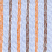 Orange Org Brdcloth Stripe Custom Shirt Fabric