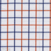 Red Twill Check Custom Shirt Fabric