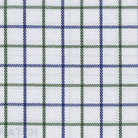 Green Twill Check Custom Shirt Fabric