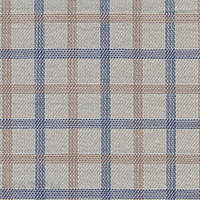 Tan Broadcloth Plaid Custom Shirt Fabric