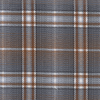 Gray Brodcloth Plaid Custom Shirt Fabric
