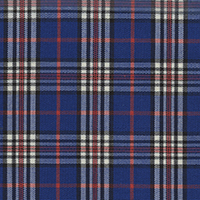 Blue Brodcloth Plaid Custom Shirt Fabric