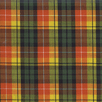 Orange Org Broadcloth Plaid Custom Shirt Fabric