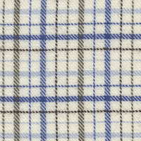 Navy Cot/Cash Plaid Custom Shirt Fabric