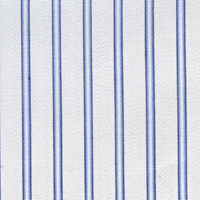 Navy Twill Stripe Custom Shirt Fabric