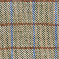 Tan Brdcloth Plaid Custom Shirt Fabric