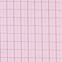 Pink Brdcloth Check Custom Shirt Fabric