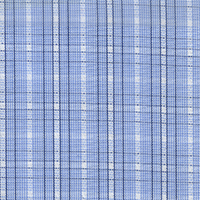 Blue/Navy Check Custom Shirt Fabric