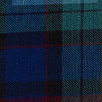 Blue Grey Plaid Custom Shirt Fabric