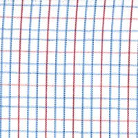 Wht W/Red/Blue Check Custom Shirt Fabric