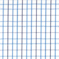 Wht W/Blue/Navy Chk Custom Shirt Fabric