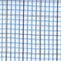 Wht W/Blue/Navy Pld Custom Shirt Fabric
