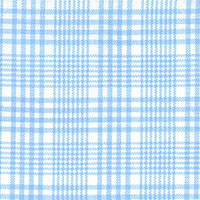 Light Blue Blue & White Plaid Custom Shirt Fabric