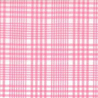 Pink & Wht Plaid Custom Shirt Fabric