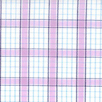 Wht/Lavender/Blue Ck Custom Shirt Fabric