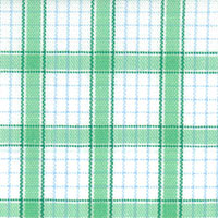Green/Blue/Wht Check Custom Shirt Fabric