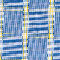 Blue W/Yellow Check Custom Shirt Fabric