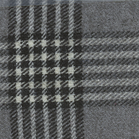 Gray Grey Twill Plaid Custom Shirt Fabric