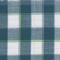Green Plaid Custom Shirt Fabric