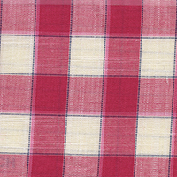 Red Plaids Custom Shirt Fabric