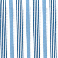 Blue/Navy/Wht Stripe Custom Shirt Fabric