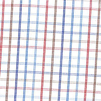 Red Oxford Check Custom Shirt Fabric