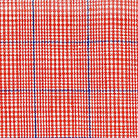 Orange Linen Plaid Custom Shirt Fabric
