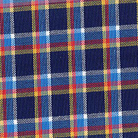 Navy Brd Plaid Custom Shirt Fabric