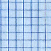 Navy Satin Check Custom Shirt Fabric